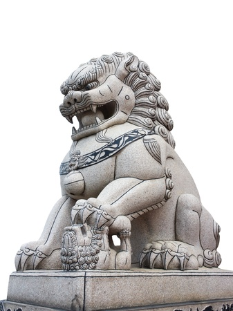 Lion stone statue in thailand Stock Photo
