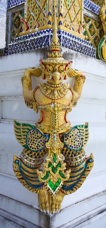 Garuda statue in thailand temple Stock Photo