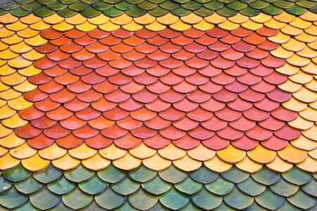 Colorful roof of thailand temple photo