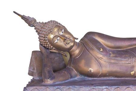 Brass statue of buddha in thailand temple Editorial