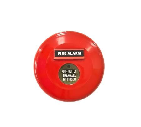 Fire alarm signal on white background photo