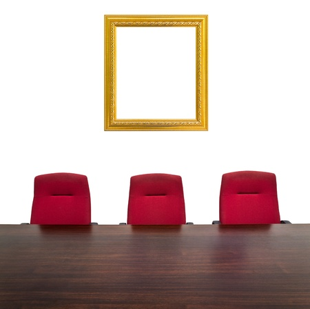 Picture frame in meeting room