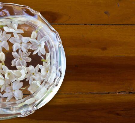 Beautiful Jasmine Flowers on Water