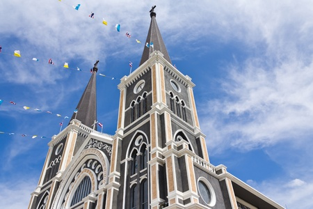 Catholic church at Chantaburi province, Thailand.  photo