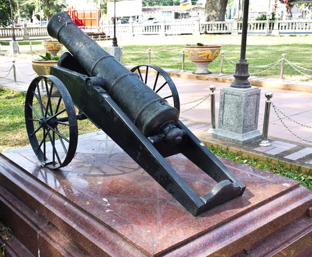Antique cannon in Thailand temple