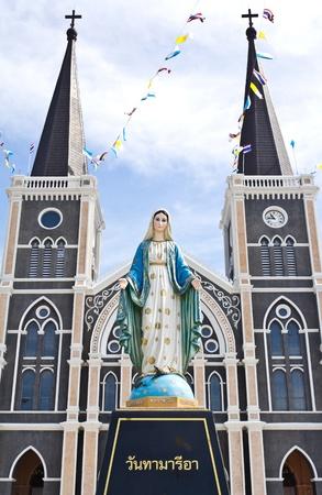 Virgin mary statue at Chantaburi province, Thailand.  photo