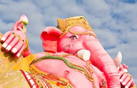 Pink ganecha at Thailand temple Stock Photo