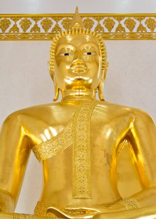 Golden buddha statue in thailand temple