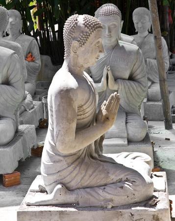 Buddha statue wait for buliding  Stock Photo