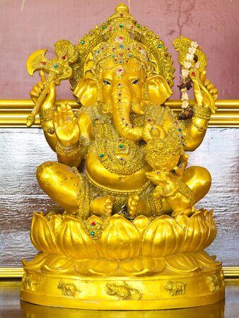 Golden ganecha statue at Thailand temple