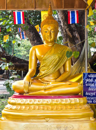 Golden buddha statue in thailand temple