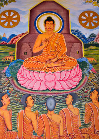 Painting of buddha picture in church