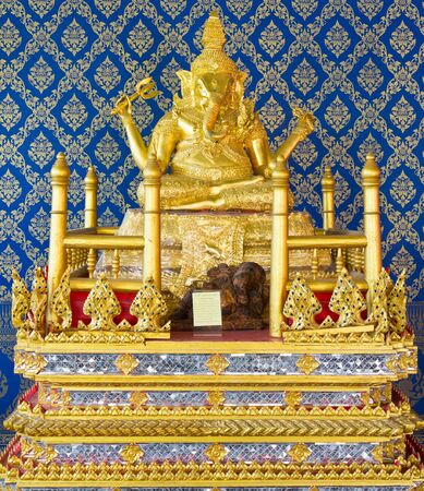 Golden ganecha statue at Thailand temple