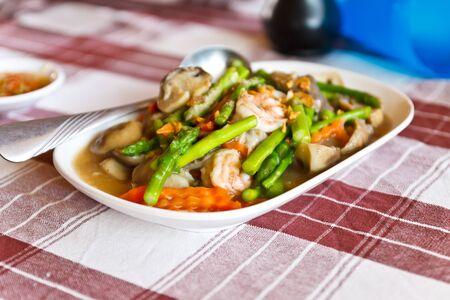 Stir-fried mix colorful vegetables