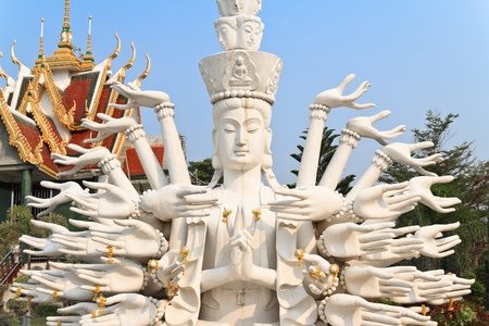 Multi armed statue in thailand temple