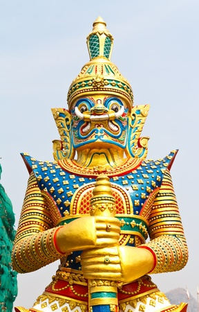 Giant statue in thailand temple Stock Photo