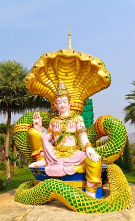 Statue in Thailands Temple Stock Photo