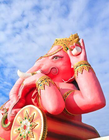 Pink ganesha at Thailand temple Stock Photo