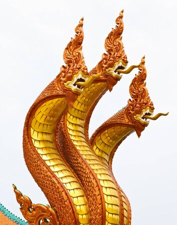 Nagas statue in thailand temple