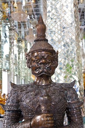 Giant statue in thailand temple photo