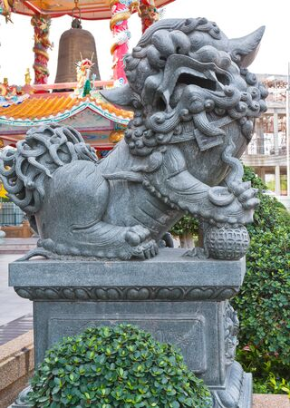 Lion statue in thailand temple