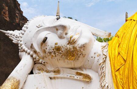 Ancient buddha statue in temple , Ayutthaya, Thailand