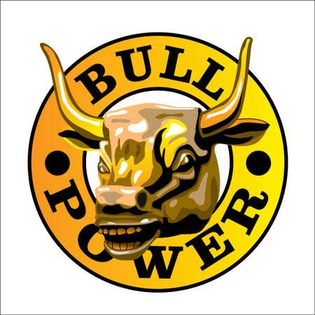 Bull's Power Stock Vector - 6098414