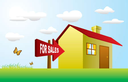 House for Sales Stock Vector - 6098416