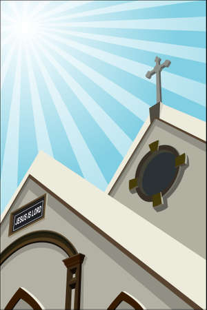 place of worship: Church Illustration