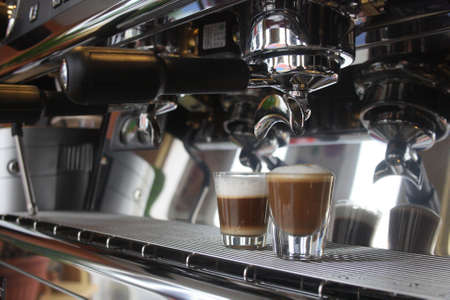 coffee machine: Making Espresso