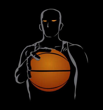Basketball Man Vector