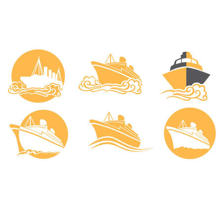 croud: ship and boat transportation icon Illustration