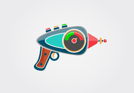Ilustración En Blanco Y Negro De Un Extraterrestre Con Una Pistola ...