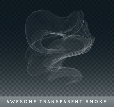 Realistic Cigarette Smoke or Fog or Haze with Transparency Isolated 일러스트
