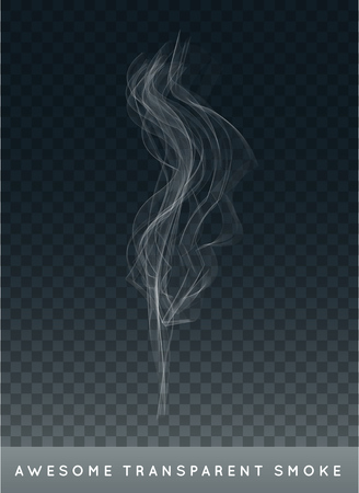 haze: Realistic Cigarette Smoke or Fog or Haze with Transparency Isolated Illustration