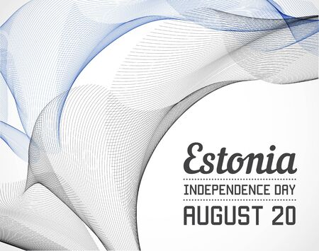 blending: National Day of Estonia Country in Blending Lines Style with Date
