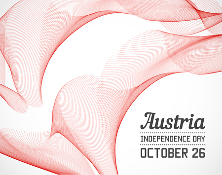 independence day: National Day of Austria Country in Blending Lines Style with Date