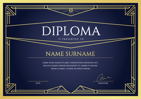 grado: Diploma o Plantilla de certificado Design Premium