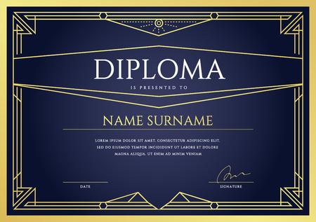 Diploma or Certificate Premium Design Template