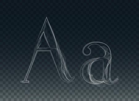 haze: Smoke or Haze Letter Font Type, two A letters Illustration