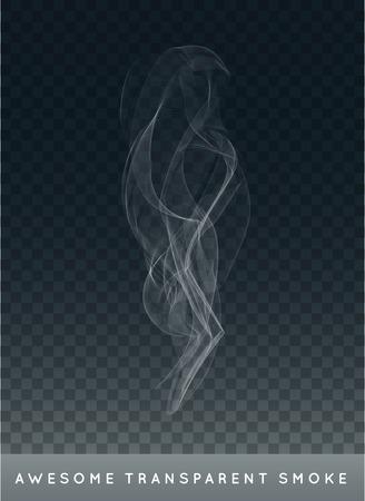 humo: Realista humo del cigarrillo o niebla o neblina con Transparencia aislada Vectores