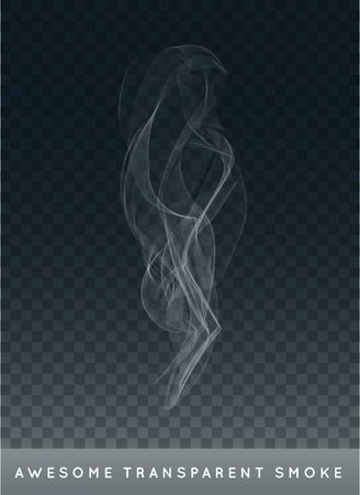 smoke: Realistic Cigarette Smoke or Fog or Haze with Transparency Isolated Illustration