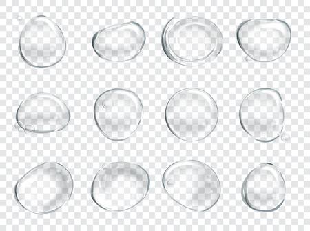 jabon: Burbujas de jabón de agua fijado. Vectores