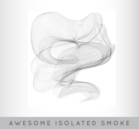 Realistic Cigarette Smoke or Fog or Haze with Transparency Isolated Background