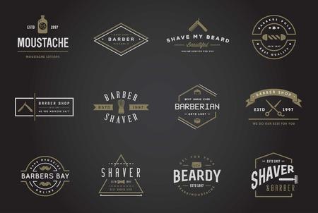 barber shop: Set of Barber Shop Elements and Shave Shop Icons Illustration Illustration