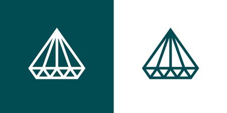 rich girl: Diamond Icon Set of two, Minimal Flat style