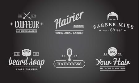barbero: Conjunto de la peluquer�a de caballeros Elementos y Shave compras los iconos Ilustraci�n Vectores