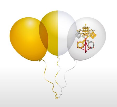 vatican city: Balloons as Vatican City Flag