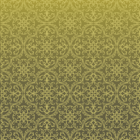 middleeast: Seamless Damask Background Pattern Design and Wallpaper Made of Turkish Texture Ceramic Tiles in Vector