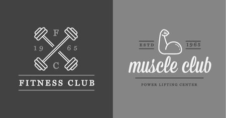 fitness logo: Set of Vector Fitness Aerobics Gym Elements and Fitness Icons Illustration can be used as Logo or Icon in premium quality